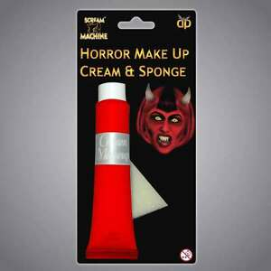Halloween Make Up Paint Cream Costume Fancy Dress Glow in Dark Red Orange Black