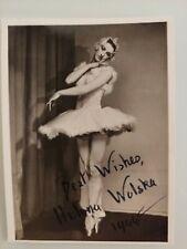 Helena Wolska signed ballet ballerina photo 44 Anglo-Polish+International Ballet