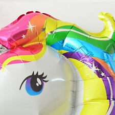 2pcs Unicorn Large Rainbow Helium Balloon Kids Birthday Party Decoration UK