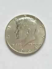 1964 President Kennedy Half Dollar Coin Silver USA 50c Uncirculated in Case