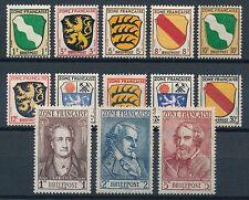 Ungeprüfte Postfrisch Allgemeine Briefmarken-Ausgaben der französischen Zone (ab 1945)