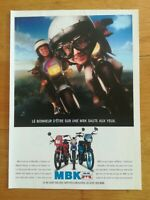 PUB ANCIENNE ADVERT CLIPPING - MBK MOTO