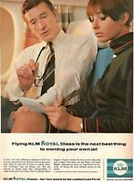 1967 Original Advertising' Vintage Klm Holland Royal Dutch Airlines Royal Class