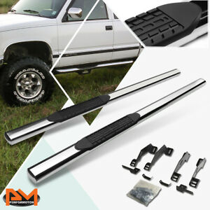 """For 88-00 Chevy/GMC C/K Extended Cab 4"""" Side Step Nerf Bar Running Board Chrome"""
