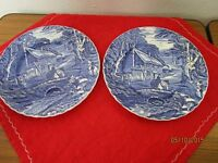 2 Teller - Old Fokey Jameskent Staffordshire, Engl. Keramik, Dorf Decor   /S72