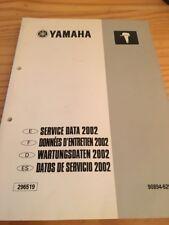 Yamaha moteur hors bord service data données entretien revue technique 2002