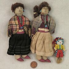 Family of Early Cloth Navajo Indian Dolls