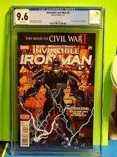 Marvel Comics INVINCIBLE IRON MAN # 9 CGC 9.6 1st full Riri Williams - IRONHEART
