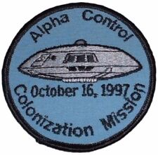 "Lost in Space Alpha Control Colonization Mission Logo 3 1/2"" Wide Patch"