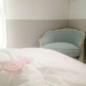 RACHEL ASHWELL Couture Mimosa Pink Embroidered FULL/ QUEEN DUVET $400 White