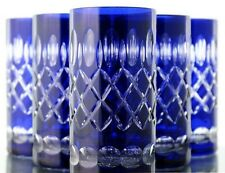 Longdrink Glasses Roman Lead Crystal 6 St. (283 B Blue Tumblers Lead Crystal