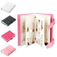 New Folding Earring Organizer Storage Box PU Portable Book Jewelry Stand Holder