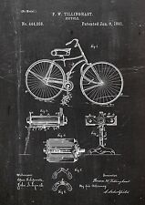 Bycicle1891 Twillinghast Patent Art A4 Fine Art-Print in Galeriequalität A4. 01