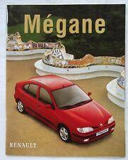 BROCHURE publicitaire -  VOITURE  RENAULT MEGANE    de 1998