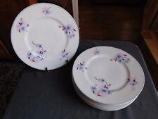 Bernardaud & Cie  six assiettes plates motif floral 1900/1927 porcelaine Limoges