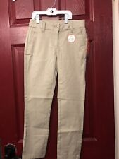 Size 16. Wonder Nation School Uniform Girls Khaki Pants Skinny Fit .