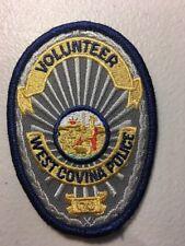 West Covina California Police Department Volunteer Patch Ca