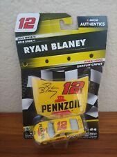 2019 Wave 11 Ryan Blaney Pennzoil Throwback 1/64 NASCAR Authentics Diecast