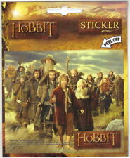 The Hobbit: An Unexpected Journey Bilbo & Dwarves Peel Off Sticker Decal, Unused