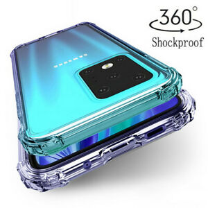 For Samsung Note 20 Ultra S20 FE 5G S21 Clear Shockproof Silicone TPU Case Cover