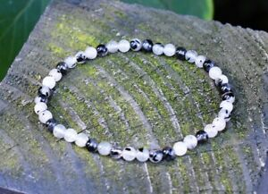 Crystal for Powerful Protection - Black Tourmaline & Clear Quartz Beads Bracelet