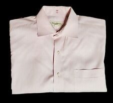 TOMMY BAHAMA Cotton Button Front Pink Striped Shirt XL L/S