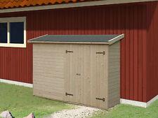 Gerätehaus Mia 234x95 cm Gartenhaus Holzhaus Schuppen Holzhütte