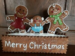 Gingerbread Family Christmas Figurines