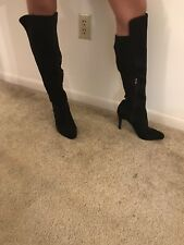 New INC Womens 9.5M Over The Knee Black Boots Stretch To Fit Calf