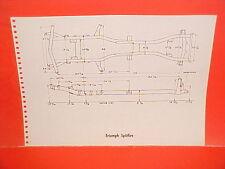 1971 TRIUMPH SPITFIRE MARK IV CONVERTIBLE 1967 TR4A COUPE FRAME DIMENSION CHART
