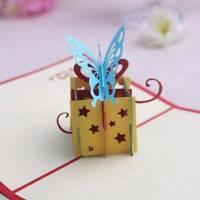 3D Pop Up Rose Geburtstag Weihnachten Hochzeit Valentinstag Grußkarten Mode Gut