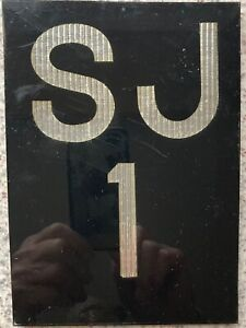 British UK Very Small Acrylic Car Vanity Number License Licence Plate SJ 1