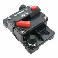 1pz 30AMP Fusibile 12V Protezione Circuito Interruttore automatico impermeabile