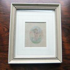 Original Art by Kate Greenaway Watercolor 'CHILDREN EMBRACING' Signed KG monogrm