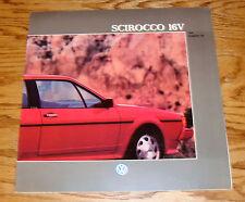 Original 1988 Volkswagen VW Scirocco 16V Deluxe Sales Brochure 88