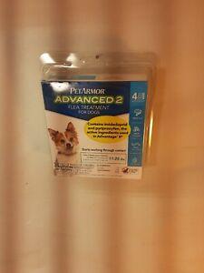 PetArmor Advanced 2 Flea Treatment For Dogs 11-20 Lbs 4 Applications 4 Month NIP
