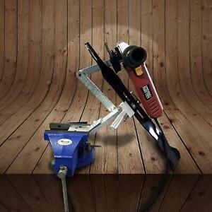 MB Machine Lawn Mower Blade Sharpener Adjustable for Mulching & Standard Blades