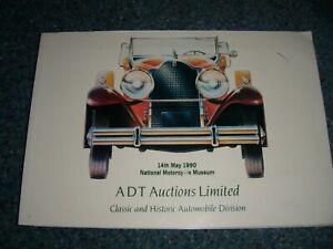 ADT AUCTION CATALOGUE MAY 1990 SOLIHULL LOTUS ELAN ZAGATO FACEL VEGA GT40 MG K2