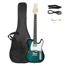 Glarry GTL Semi-Hollow F Hole with Rosewood Fingerboard Electric Guitar Blue