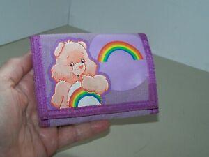 Care Bears purple rainbow trifold wallet