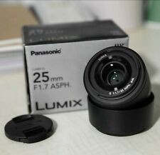 Panasonic Lumix G Lens, 25mm, F1.7 ASPH., Mirrorless Micro Four Thirds, H-H025K