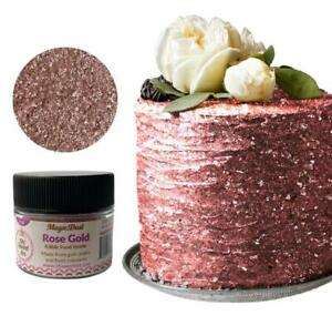 Edible Glitter dust ROSE GOLD ( 6 grams ) Magic dust , Kosher, Gluten free