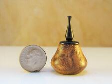Hw miniature turning mesquite burl lidded hollow vase l