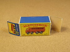ORIGINAL BOX FOR LESNEY MATCHBOX # 17 HOVERINGHAM TIPPER