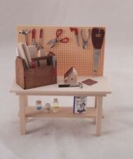 Work bench tools garage table dollhouse 1-12 scale dollhouse SH0032 miniature