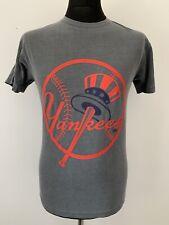 Nueva York NY YANKEES logo Retro Vintage Gris Descolorido Camiseta Camiseta Deportes Béisbol M