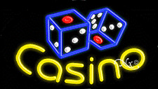 "New ""Casino"" 30x17x3 Oval Solid/Flashing Real Neon Sign w/Custom Options 14504"