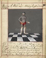 Wild and Hairy Irishman 18th Century, 6x5 Inch Reprint Art Print nbl