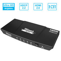 TESmart 1 in 4 out  HDMI Splitter Repeater Amplifier 4K@60Hz HDCP 2.2 EDID