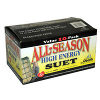Heath DD4-10 All Season High Energy Suet Cake, 11.25 Oz, 10-Pack